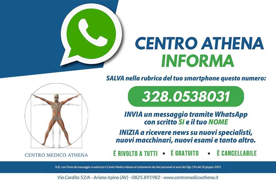 Centro Athena WhatsApp